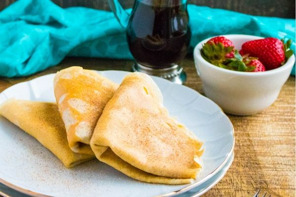 Snickerdoodle Crepes inspired by our favorite cookie recipe!