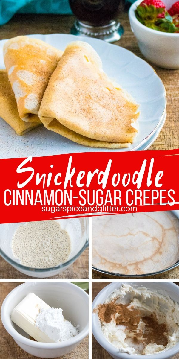 The ultimate easy brunch recipe, these Snickerdoodle Crepes are inspired by our family vacation to Paris! Inspired by the cinnamon-sugar crepes you can get at Paris street stalls