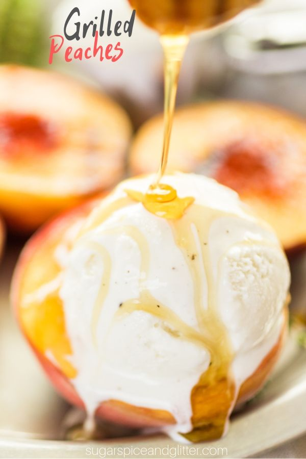 A simple method for grilled peaches. These caramelized, slightly smoky peaches are great with anything from grilled chicken to ice cream!