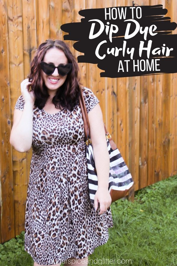 How to Dip Dye Curly Hair AT HOME - yes, you read that right. Everything you need to know for a dramatic yet super simple hair update that leaves your curls healthy and intact