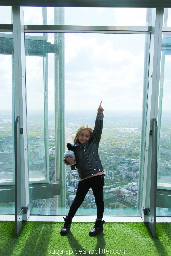 Visiting the Shard in London with Kids