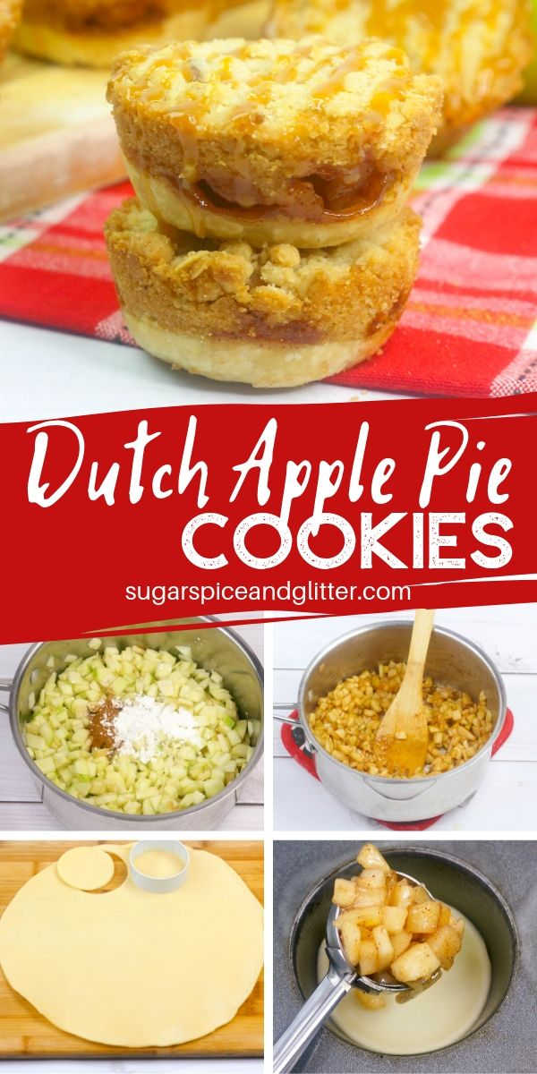 Dutch Apple Pie Cookies are a fun take on a traditional Dutch Apple Pie. They make a fun Thanksgiving cookie with three layers of melt-in-your-mouth deliciousness