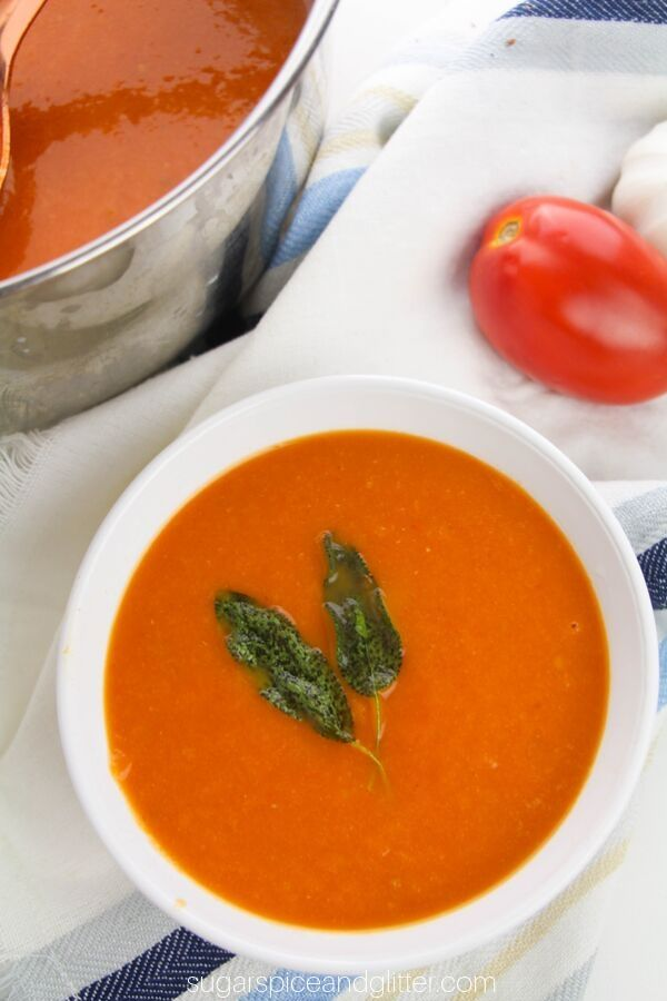 Love tomato soup? You'll love this homemade roasted tomato soup that is super simple to make and incredibly flavorful
