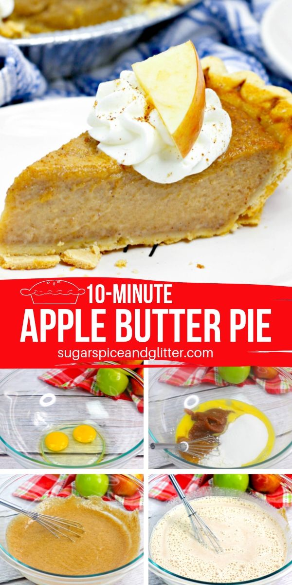 How to make an apple butter pie - the perfect compromise for the pumpkin pie lovers and apple pie lovers in your house. This silky, velvety pie has a caramelized apple flavor and is only 6 ingredients!