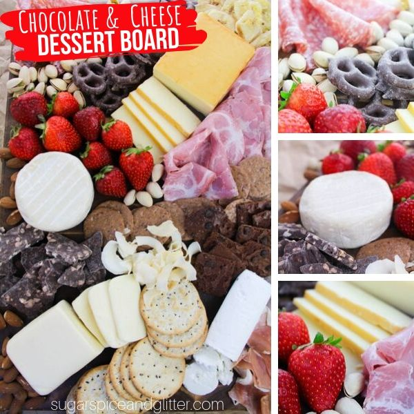 How to make the ultimate dessert board with chocolate, cheese, crackers and fruit