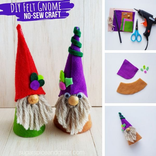 How to make a cute gnome craft out of paper and felt
