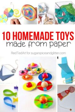 Homemade Paper Toy Crafts