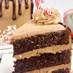 Triple Chocolate Peppermint Cake