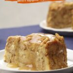 Instant Pot Pumpkin Bread Pudding with Apple–Vanilla Sauce