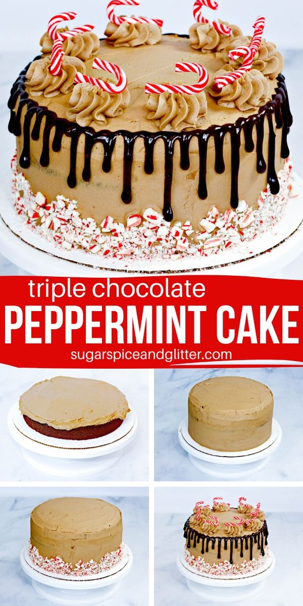If you're a Peppermint Mocha fan, you're going to love this Triple Chocolate Peppermint Cake. It's the perfect Christmas Cake and super simple to make
