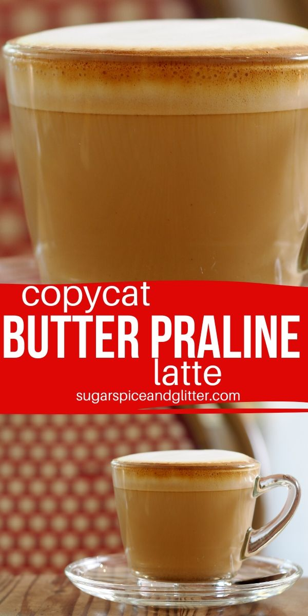 An indulgent dessert coffee that tastes just like Starbucks Chestnut Praline latte! This Butter Praline coffee is just 5 simple ingredients and requires no special equipment to whip up