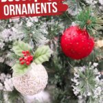 Decoupage Christmas Ornaments (with Video)