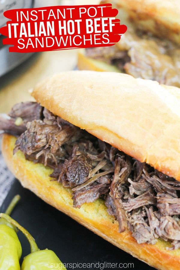 Make Chicago's Famous Italian Hot Beef Sandwiches at Home in Your Instant Pot! This easy Instant Pot beef recipe is perfect for meal prepping or a casual weeknight meal