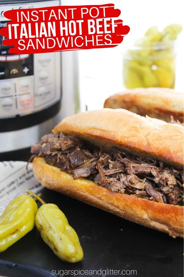 A super simple Instant Pot recipe for the best Italian Beef Sandwiches you will ever make - made even easier with your Instant Pot!