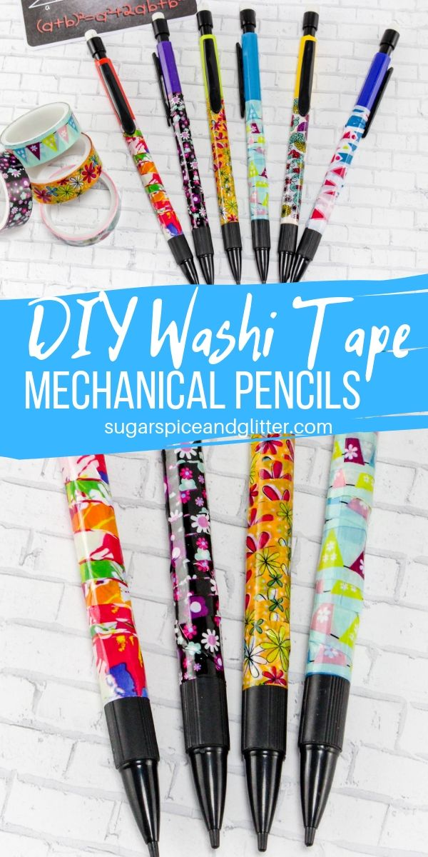 Add some personality and customization to your child's school supplies with these DIY Washi Tape Pencils. Cheaper than buying fancy or customized pencils, and helps your child not lose their school supplies