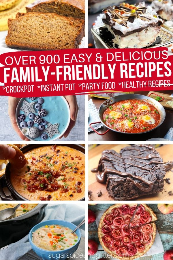 Nearly 1000 easy, delicious recipes the whole family will love - from crockpot meals, instant pot recipes, desserts and appetizers perfect for your next party, and healthy recipes the kids will actually enjoy. We've got you covered with our free recipe collection