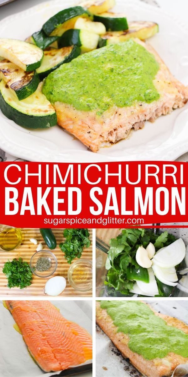A delicious way to incorporate more heart-healthy salmon into your week, this Chimichurri Salmon recipe uses a simple homemade chimichurri sauce to elevate a simple baked salmon to a at-home gourmet experience.