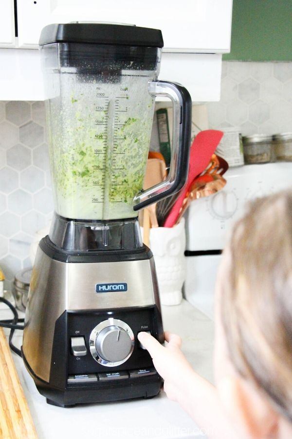 Use a high-speed blender for making homemade chimichurri sauce