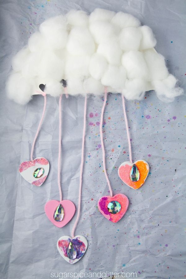 A super simple cloud craft for kids to shower their loved ones with affection - a great way to teach metaphor, too