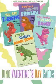 Dinosaur Valentines