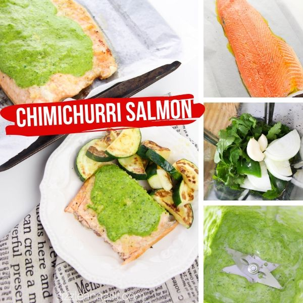 How to make baked salmon with chimichurri sauce, a delicious Argentinian-inspired meal