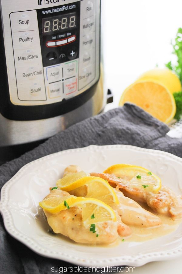 Instant Pot Chicken Piccata is a restaurant-quality chicken dish you can make at home in less than 20 minutes!