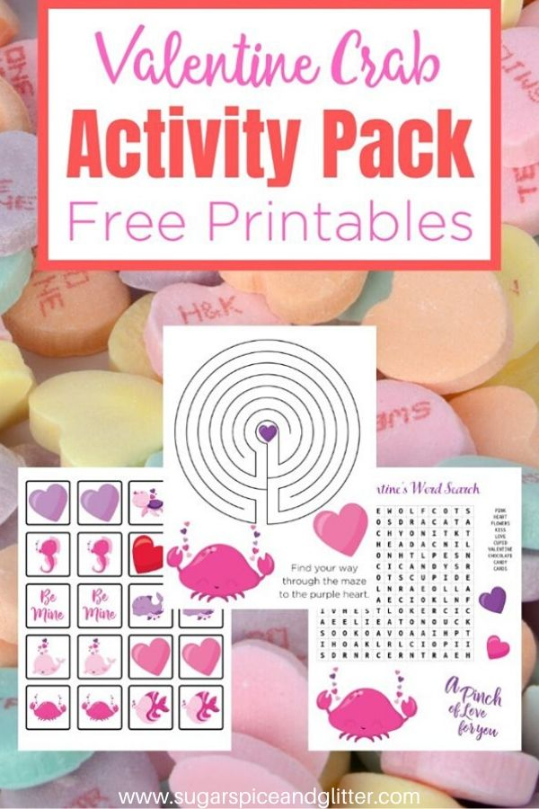 Free Ocean Themed Activity Pack for Valentine's Day (but real Ocean fans will love it any time of year). Includes Valentine's Day Word Search, Valentine's Day maze and Ocean Themed Matching Cards