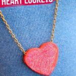 Secret Message Glitter Heart Necklaces (with Video)