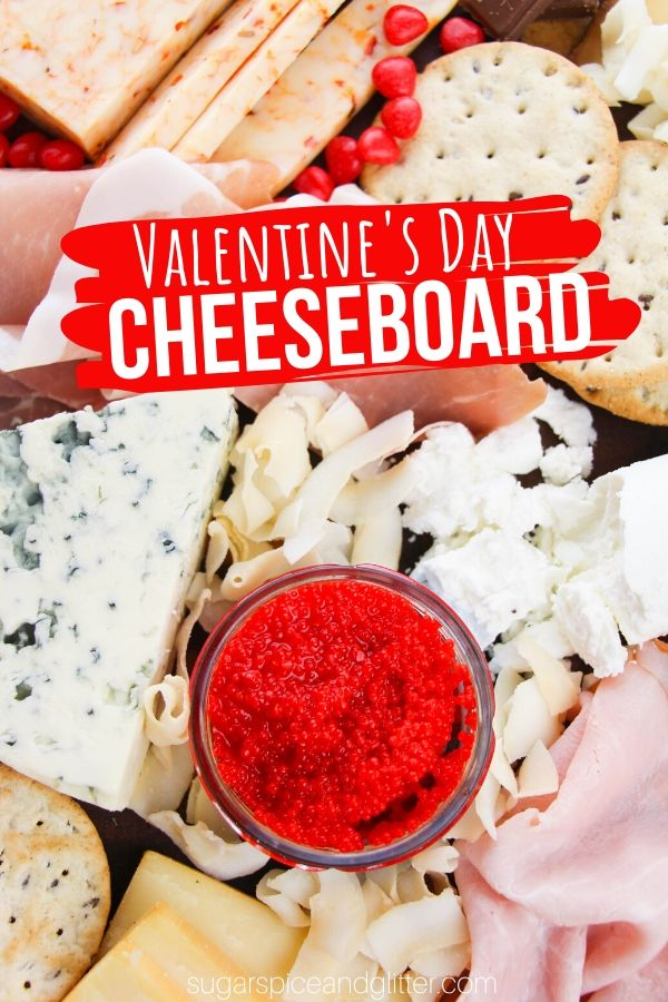 A creative and unique cheeseboard perfect for Valentine's Day, or any special occasion. This cheeseboard is big enough for the whole family