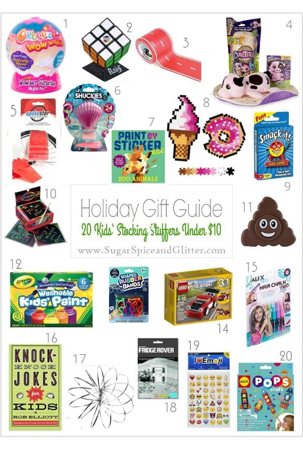 20 Kid-approved stocking stuffers under $10 - these are perfect for secret Santa, white elephant, or all those cousin gifts, too