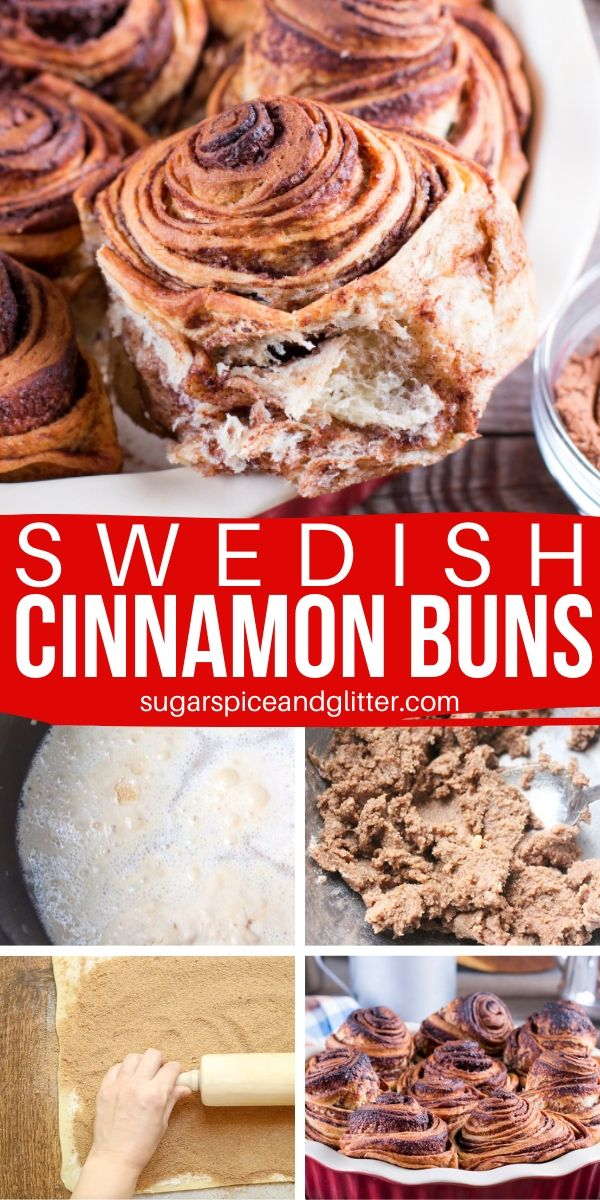 These Swedish Cinnamon Buns have a flaky exterior, chewy center and layers upon layers of cinnamon-sugar goodness. Total brunch goals!
