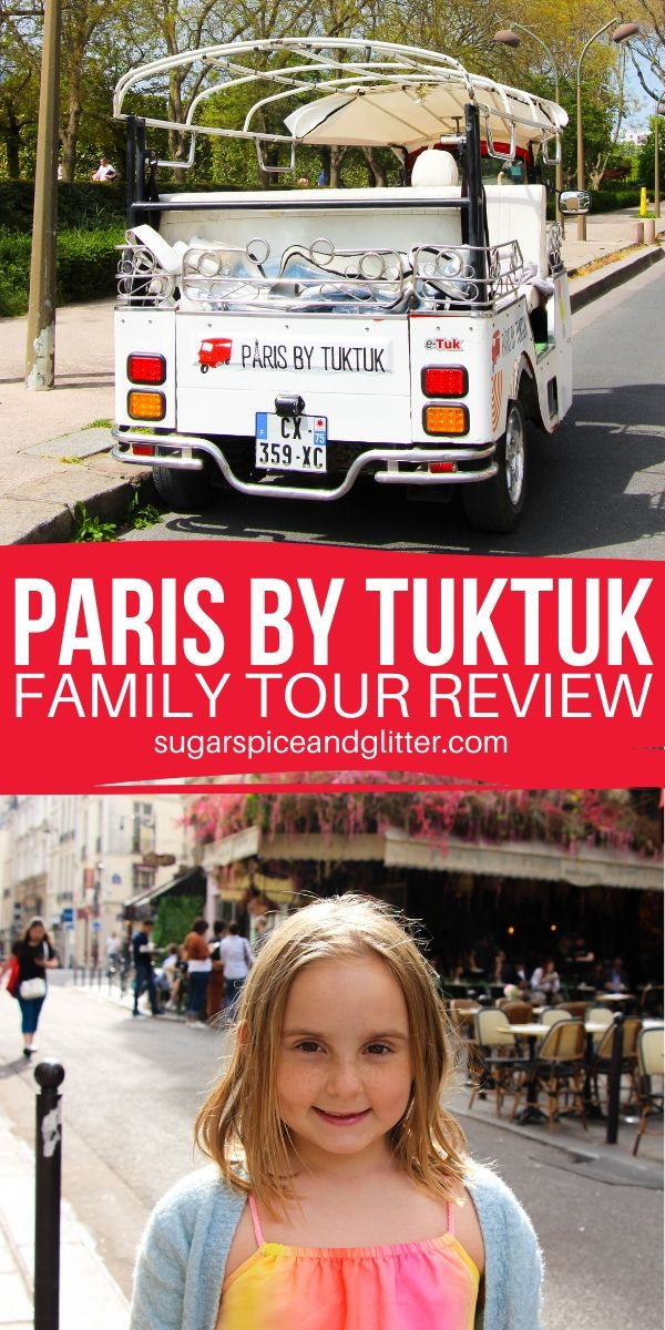 An honest family review of Paris by Tuktuk, a unique tour option in the City of Lights that allows you to see either the main tourist attractions or explore the hidden Paris only locals know