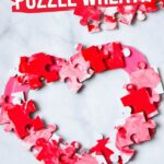 Valentine's Wreath Puzzle Craft