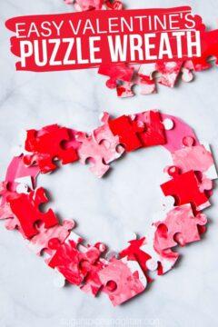 Valentine's Wreath Puzzle Craft