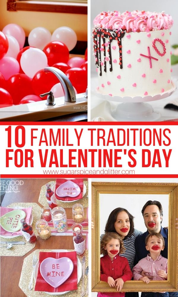 Simple Family Traditions to add to your Valentine's Day celebrations, from fun family pictures to special Valentine's breakfasts