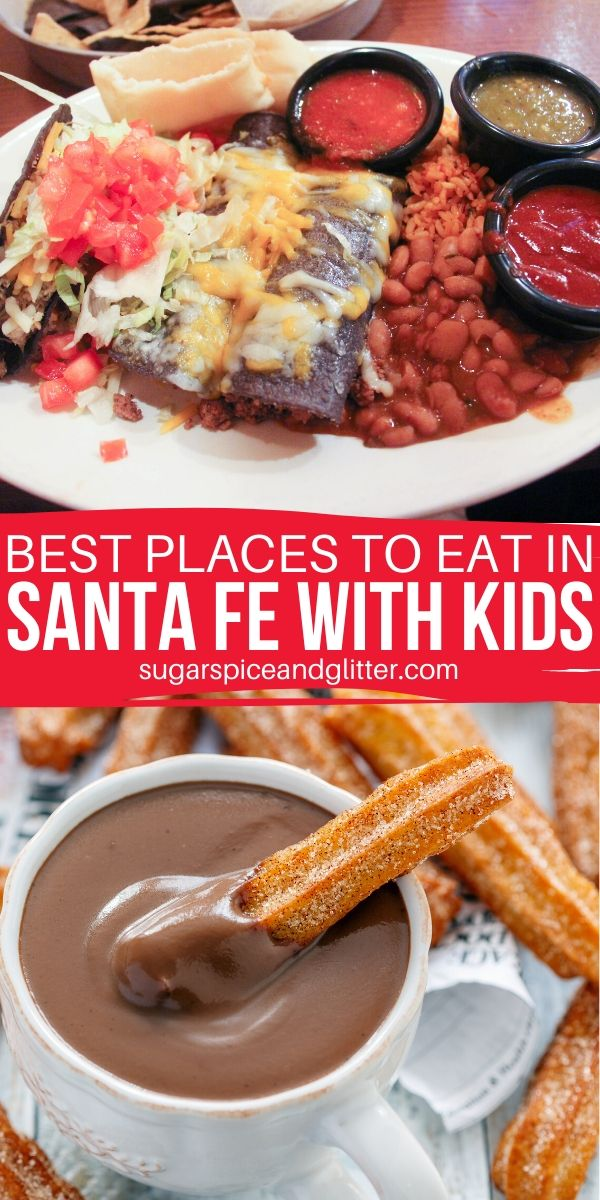 The BEST restaurants in Santa Fe, New Mexico for families - taste authentic New Mexican food and find some lively restaurants for tapas and entertainment