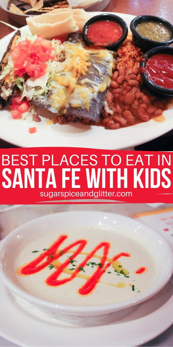 Amazing restaurants you need to try in Santa Fe, New Mexico. Options for delicious and filling breakfasts, authentic New Mexican cuisine and great spots for some entertainment with your meal