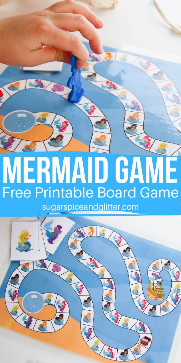 Grab your free printable download for this Mermaid Board Game, a fun underwater take on Candy Land perfect for the whole family!