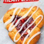 Heart-Shaped Strawberry Danish