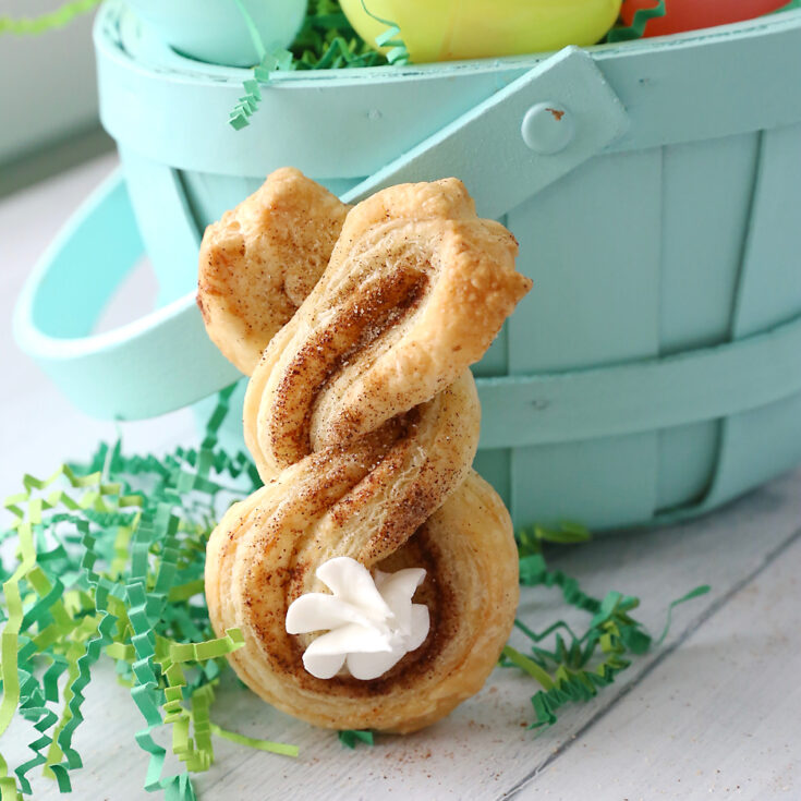 Cinnamon sugar Easter bunny twists