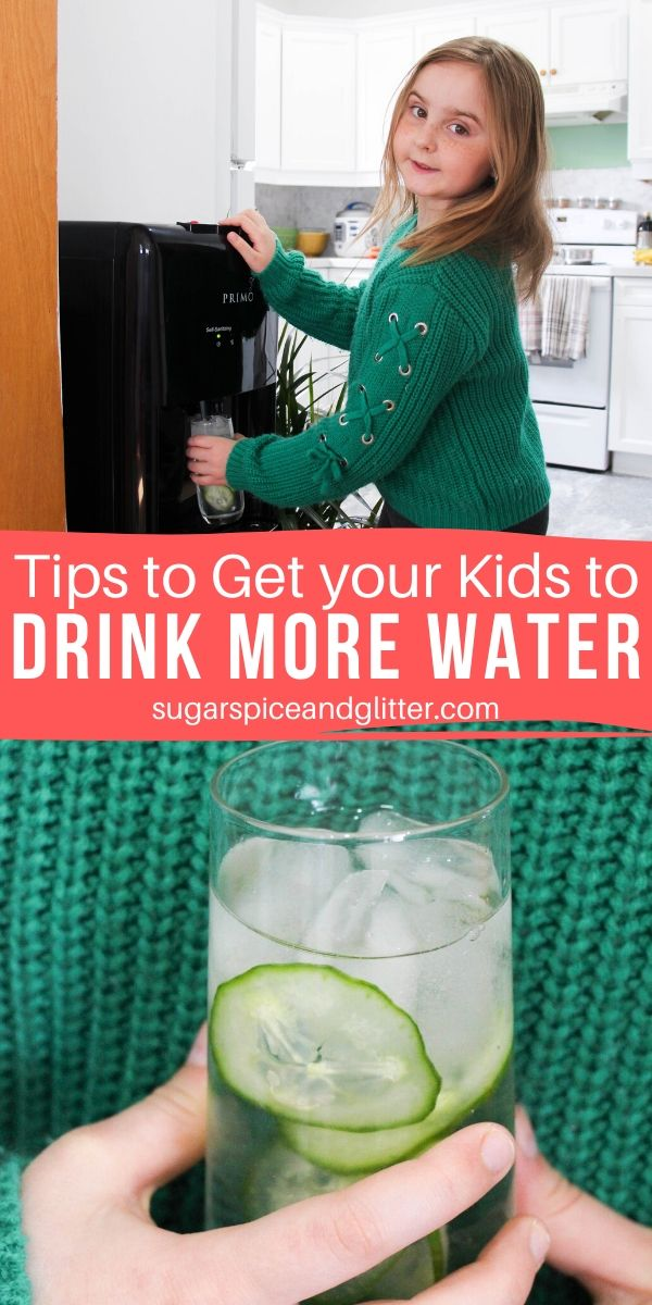 Tips to get kids to drink more water with Primo - no charts, tracking, or nagging involved!