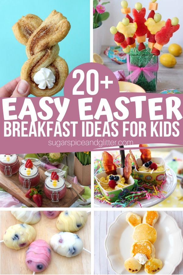 A collection of fun Easter Breakfast Ideas for kids that are simple enough for them to help make. Many of these would also work great for an Easter party