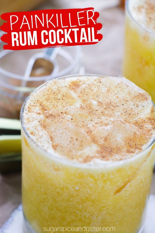 A citrusy, tropical cocktail with a creamy coconut finish and a hint of warmth, these painkiller cocktails are smooth and easy.