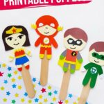 Printable Superhero Puppet Craft (with Video)