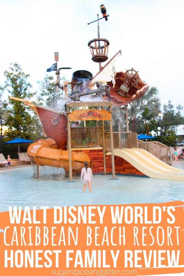 Planning a Disney World vacation? Check out this review of Disney's Caribbean Beach Resort, a moderate resort with Island vibes and the best pool on Disney property