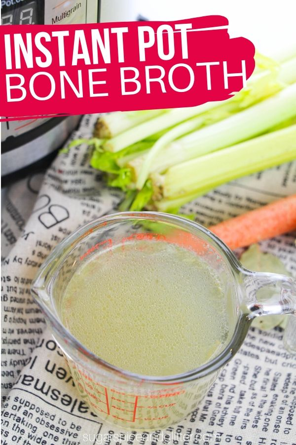 How to make flavorful and nutritious Instant Pot Bone - the perfect way to nourish yourself using kitchen scraps! Add to soups, sauces, or enjoy plain