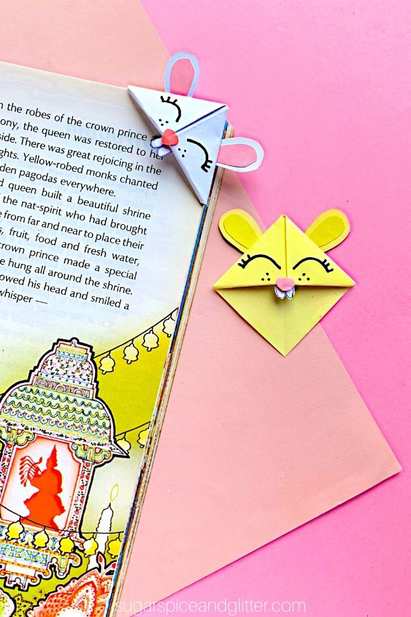 Easter Bunny Corner Bookmark