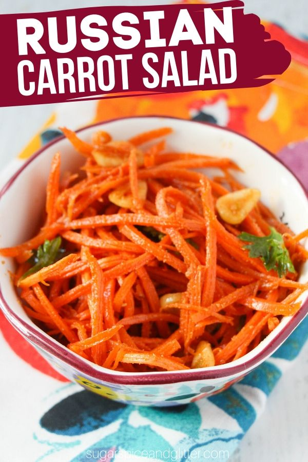 A delicious carrot slaw perfect for an easy side salad or burger topping - I enjoy mine with a big scoop of rice! This is a kid-friendly take on a Russian carrot salad with just 6 ingredients and less than 10 minutes prep time