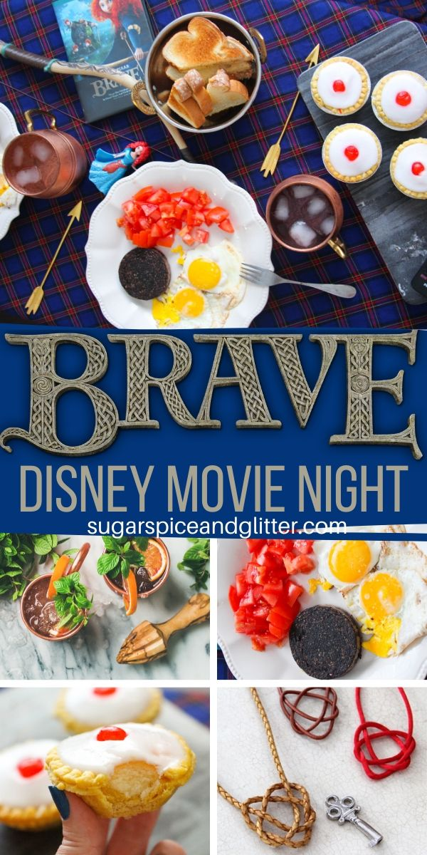Everything you need to plan the ultimate BRAVE Movie Night, a fun family tradition. This post includes a free printable movie night planner, craft instructions, and recipes for an easy Disney movie night that adds magic to your week