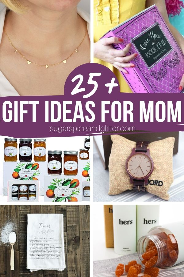 Mom is special, so her gift should be, too! 25 of the most thoughtful and unique gift ideas for moms out there! From personalized kitchen items to beautiful jewelry, fun subscription boxes and more!